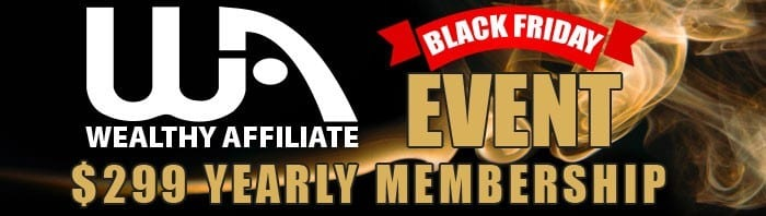 Black Friday 2019 Wealthy Affiliate Membership Banner