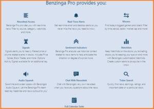 Benzinga Pro Price - Benzinga Pro Features