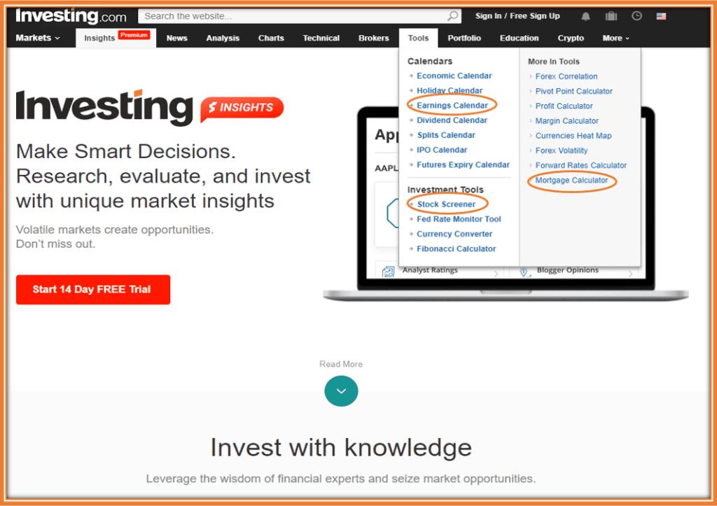 Investing.com App Review - Features of Investing.com