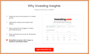 Investing.com App Review - Investing.com Insights Premium Service Features