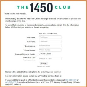 The 1450 Club Review - The 1450 Club Pricing that is currently not available