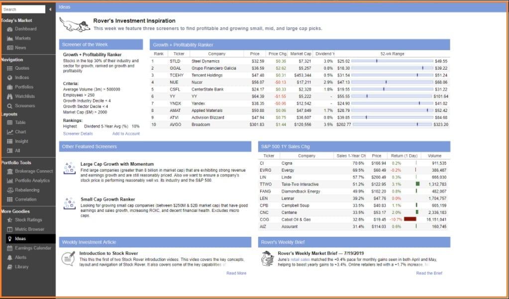Stock Rover Screener - Stock Rover Ideas