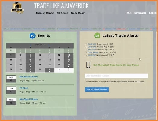 Maverick Trading Review - Maverick Trading Interface