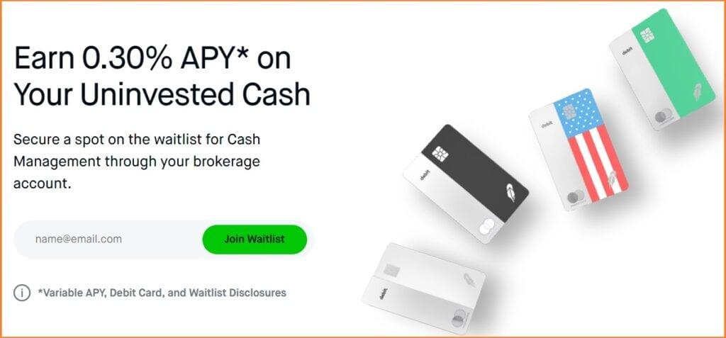 Robinhood Trading Platform - Robinhood Cash Management