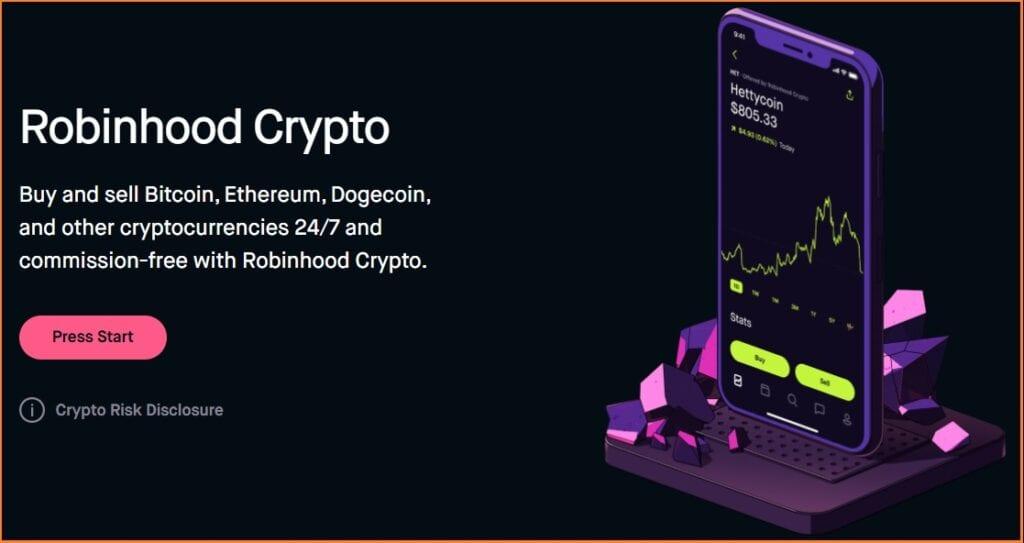 Robinhood Trading Platform -  Robinhood Crypto Trading