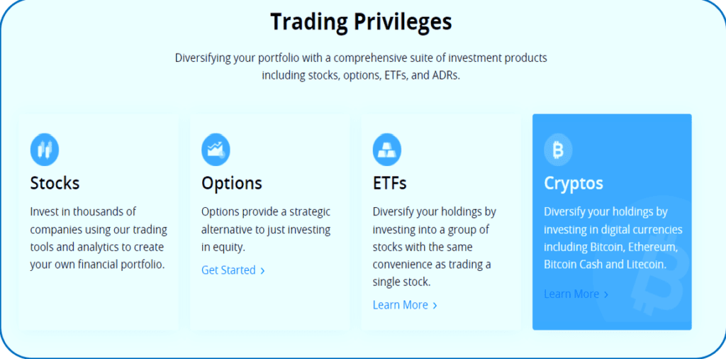 Webull vs Robinhood - Webull offers Stocks, ETFs, Crypto and Options for zero comission