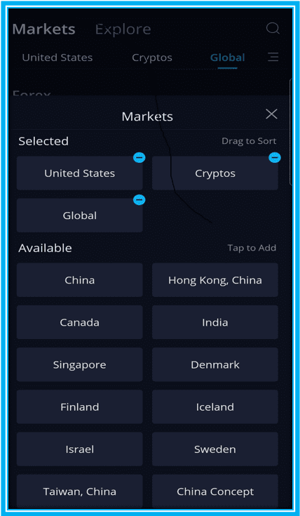 How to Trade Options on Webull : Webull Current Available Global Markets