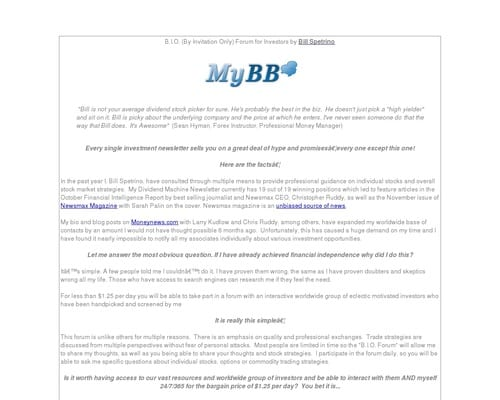 Bio Forum By Bill Spetrino