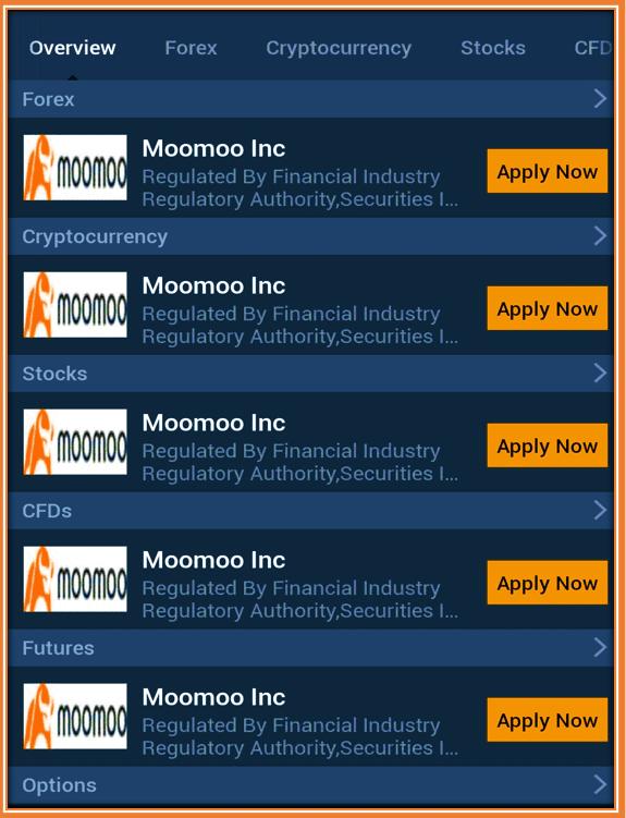 FUTU MOOMOO Trading App Review - MooMoo App is featured inside Investing.com App as a Top broker