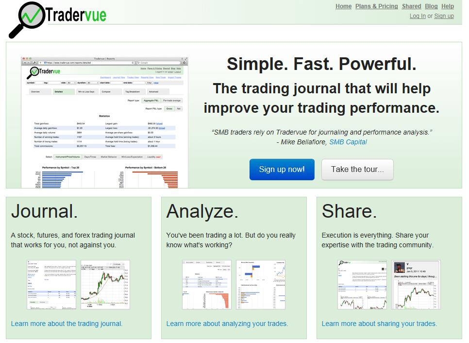 Best Trading Journals - Trader Vue Trading Journal