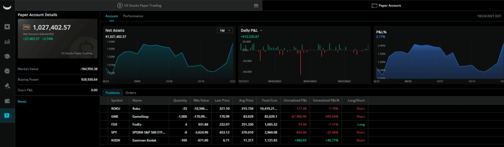 Can You Paper Trade Options on Webull - Webull US Stocks Paper Trading Account with over 1.027 Million
